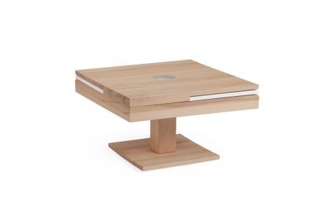 Couchtisch Tisch MADOX Wildeiche Massivholz 80x80 cm