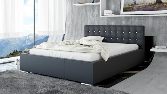 Polsterbett Bett Doppelbett GIANO Deluxe 180x200cm inkl.Bettkasten