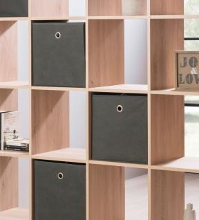 Faltbox Box Stoffbox- Delta - Größe: 32 x 32 cm / 3er Set - Grün - Vorschau 3