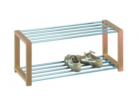 Schuhregal Schuhbank Regal - Run 1 - Dekor Buche 80 x 32 cm