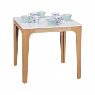 Esstisch Tisch - MAGNUS - Vierfußtisch 80x76 cm MDF Weiß lackiert
