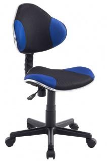 Drehstuhl Bürostuhl Stuhl - Nr 25 - Schwarz-Blau