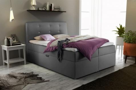 Boxspringbett Schlafzimmerbett MONZA Kunstleder Grau 180x200 cm - Vorschau 1