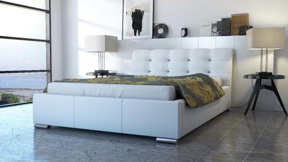 Polsterbett Bett Doppelbett ERICO 200x200cm inkl.Bettkasten