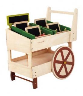 Holzspielzeug - Bio Obst und Gemüsewagen