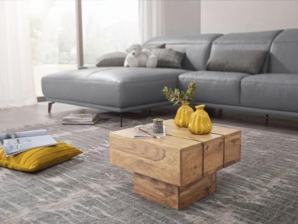 Couchtisch Massivholztisch Beistelltisch ASMO 44x44x30 cm Holz Akazie