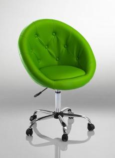 Drehstuhl Bürostuhl Drehhocker - Nr 30 - Kunstleder - Grün