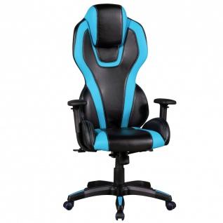 Drehstuhl Bürostuhl Chefsessel SPORTI - Schwarz / Blau