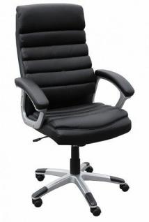 Drehstuhl Bürostuhl Chefsessel TOLEDO - Schwarz