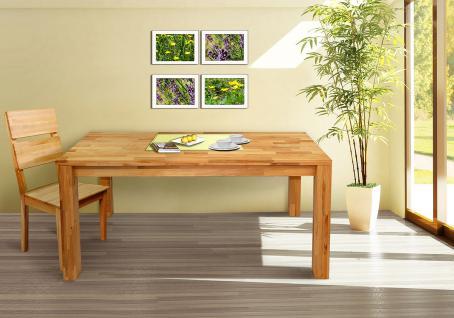 Esstisch Tisch GERI 160x90 cm Buche massiv geölt / Fuß 90x90 mm