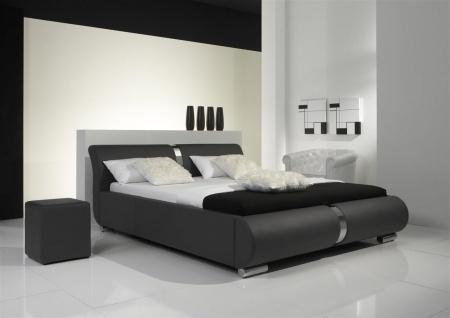 Polsterbett Bett Doppelbett DAKAR Komplettset 140x200 cm Grau - Vorschau 1
