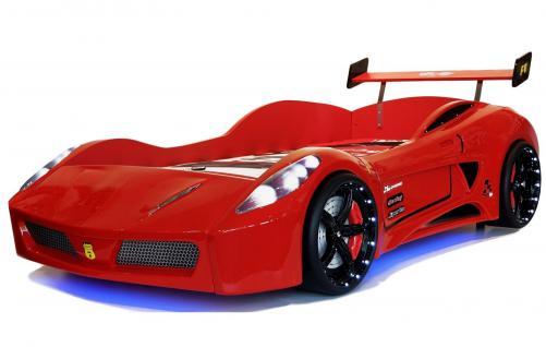 Autobett Kinderbett - Formel GT / Standart - Rot inkl.Beleuchtung