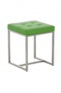 Sitzhocker - BRIT 2 - Hocker Sessel Kunstleder Grün 40x40cm
