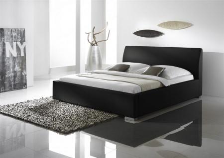 Polsterbett Bett Doppelbett Tagesbett - COSIMO 2 - 140x200 cm Schwarz
