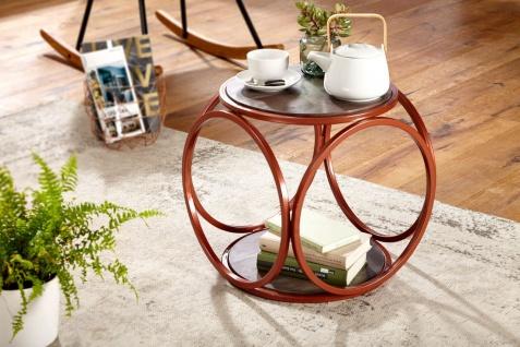 Beistelltisch Tisch MIRA 43x43x43.5cm Massivholz Akazie Industrialstil