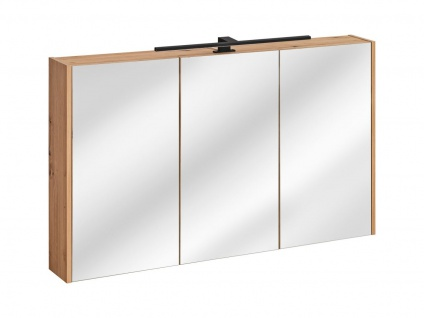 Badezimmer Spiegelschrank 120x72cm PANTIN Grau inkl.LED