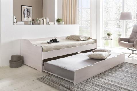 Gästebett Bett SARA Kernbuche massiv Weiss 90x200cm