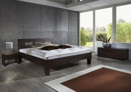 Massivholzbett Schlafzimmerbett - Ritz - Bett Buche -Wenge 160x220 cm