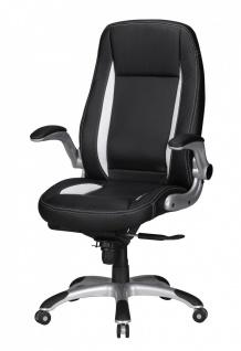Drehstuhl Bürostuhl Chefsessel BUFFALO -Schwarz - Vorschau 3