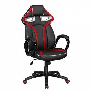 Drehstuhl Bürostuhl Chefsessel GAMING 2 - Schwarz / Rot