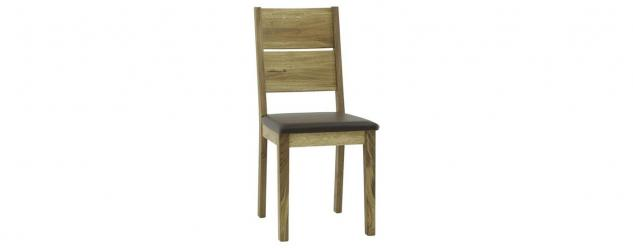 Esszimmerstühle Stuhle 2er Set Massivholz Wildeiche-Braun Geölt - Andy