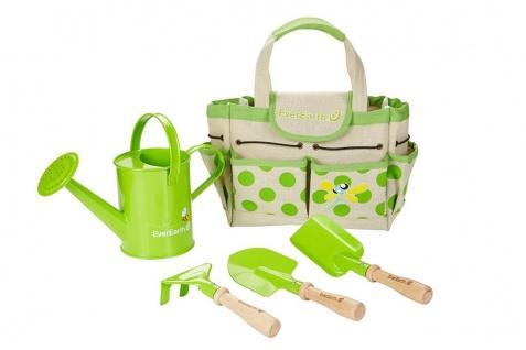 Holzspielzeug - Gartentasche mit Gartengeräten und Giesskanne