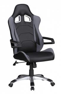 Drehstuhl Bürostuhl Chefsessel FORMEL - Schwarz / Grau