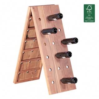 Weinregal Flaschenregal 100 cm für 36 Flaschen Massiv-Holz Akazie