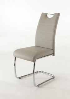 Esszimmerstühle Stuhl Freischwinger 2er Set ELENI Cappucino