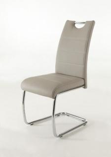 Esszimmerstühle Stuhl Freischwinger 4er Set ELENI Cappucino