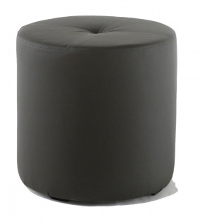 Rundhocker Sitzhocker Schminkhocker Hocker Sessel Kunstleder Grau 43 x 43 cm
