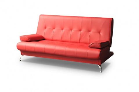 Sofa 2-Sitzer FABIA mit Schlaffunktion Rot