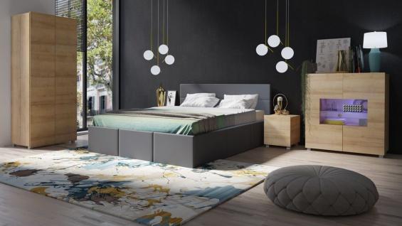 Schlafzimmer Komplett Set 5 tlg LABRI Grau- Sonoma Eiche matt