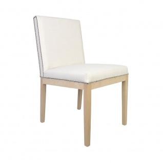 Polsterstuhl Stuhl 2er Set DORIN Massivholz Buche