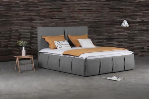 Polsterbett Doppelbett AGIS Stoff Grau 140x220cm