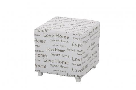 Sitzwürfel Sitzhocker - HOME - Hocker Sessel Bezug : Stoff 40x40 cm