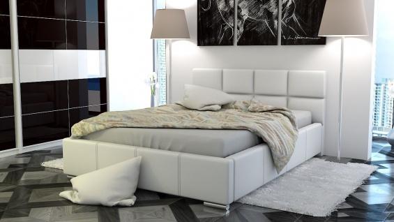 Polsterbett Bett Doppelbett SILVIO 180x200cm inkl.Bettkasten
