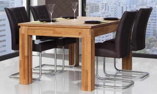 Esstisch Tisch ausziehbar MAISON Wildeiche massiv geölt 160/385x100 cm