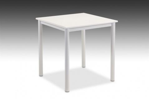 Esstisch Tisch ELLEN 70x70 cm in Dekor Hochglanz Weiss