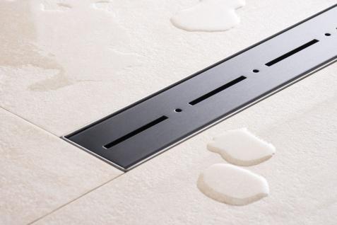 Duschrinne Dusch Badablauf Bodenablaufrinne NR.2 - 90 cm/ Schwarz