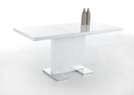 esstisch s ulentisch birga 120 160x80 cm hochglanz weiss. Black Bedroom Furniture Sets. Home Design Ideas