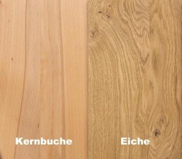 """Zeitloser Couchtisch """" Tilo 2"""" Wildeiche Massiv geölt 118 x 76 cm - Vorschau 2"""