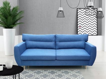 Sofa 3-Sitzer ANABEL mit Schlaffunktion Blau