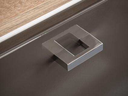 Badmöbel Set 3-tlg Badezimmerset VENTO Grau HGL inkl.Waschtisch 50cm - Vorschau 4