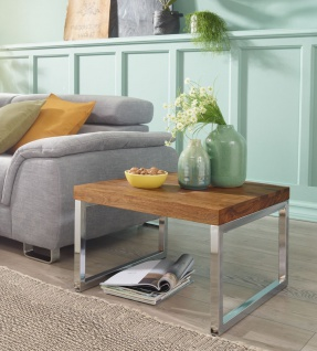 Couchtisch Beistelltisch Tisch NUKA 60x60x40 cm Sheesham Massivholz