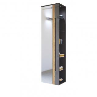Badezimmer Hängeschrank 170x45x33cm LAXY Grau Hochglanz