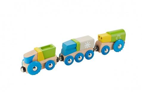 Holzspielzeug - Recycling Eisenbahn