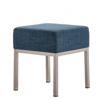 Sitzhocker - LONI - Schminkhocker Hocker Sessel Stoff BLAU 40x40 cm