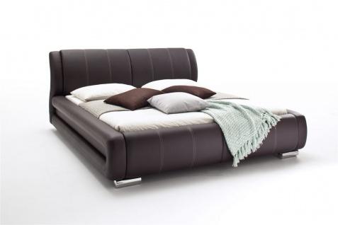 Polsterbett Bett Doppelbett Tagesbett - LIMA - 180x200 cm Braun - Vorschau 3