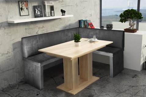 Eckbankgruppe 196x142 cm ROBIN XL L Vin..Schwarz/ Tisch DANTE Sonoma
